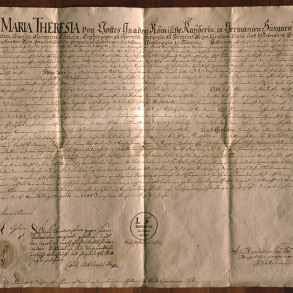 Document of Maria Theresia