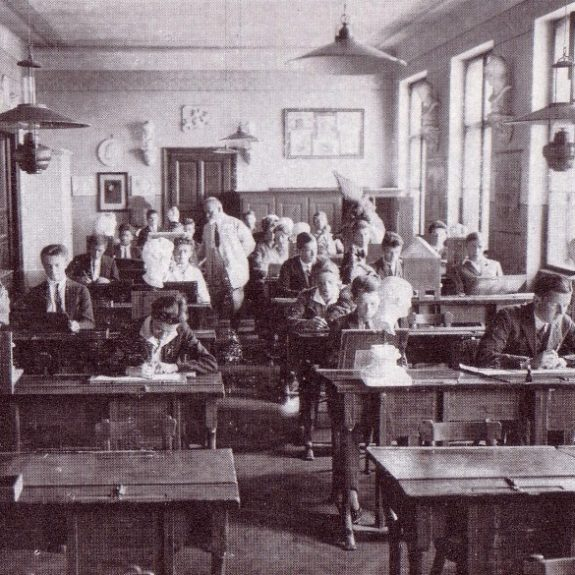 At lessons around 1930